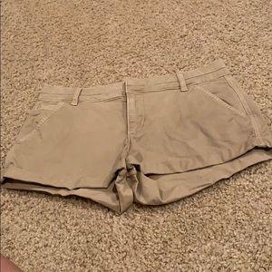 Abercrombie low rise khaki shorts